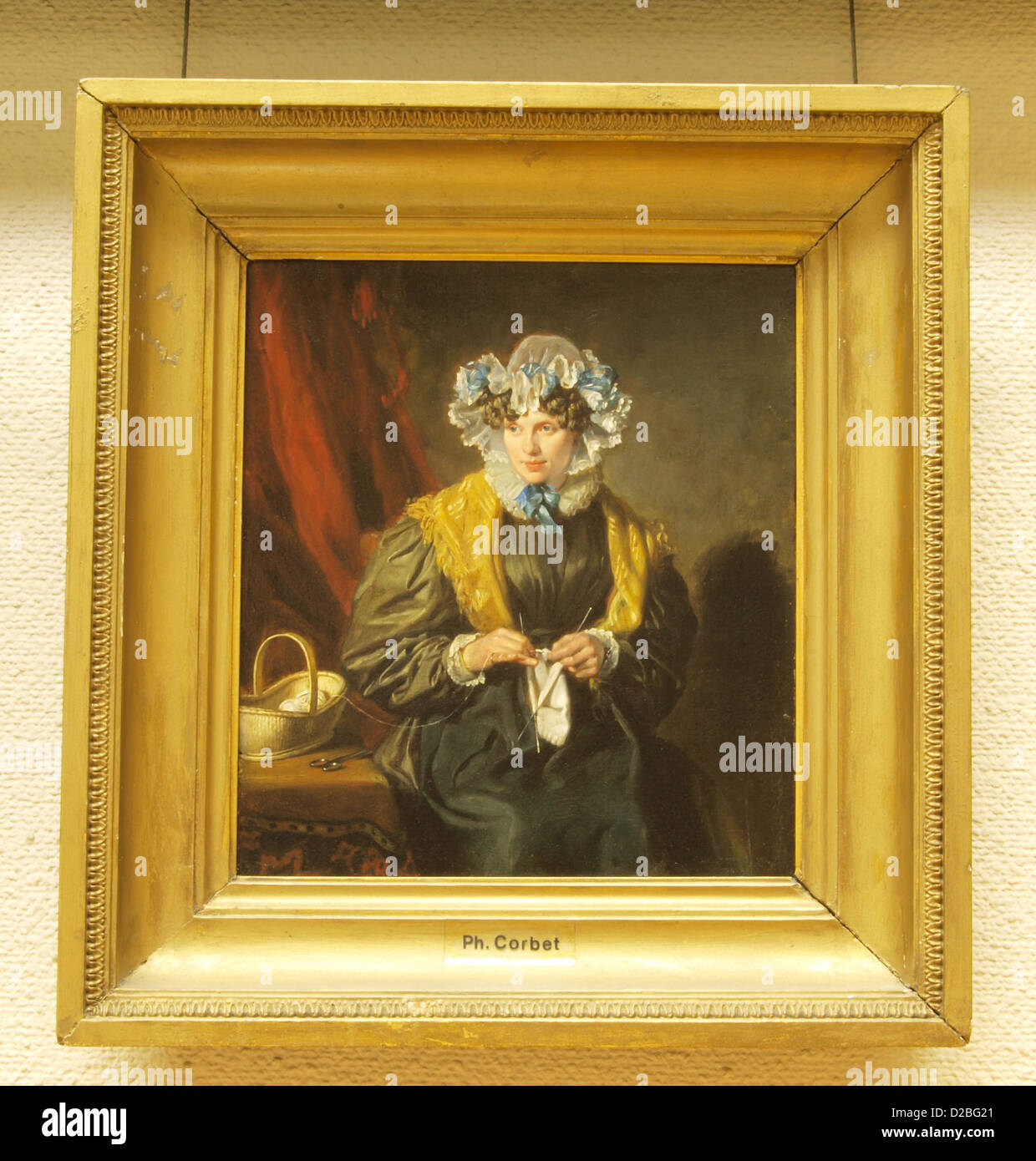 Philip Corbet, Ritratto di signora H. Hentzepeter, 1830, olio su pannello Immagini Stock