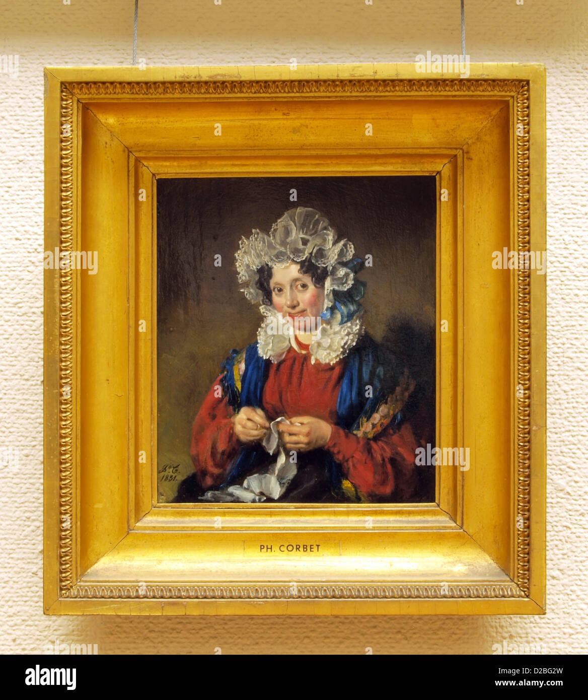 Philip Corbet, donne ritratto, 1831, olio su pannello. Hentzepeter, 1830, olio su pannello Immagini Stock