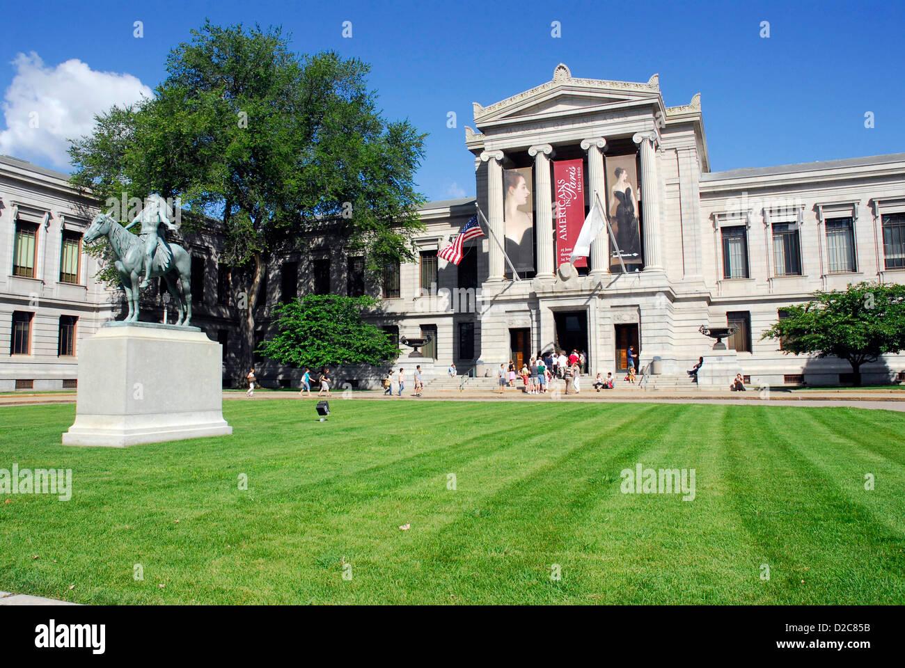 Massachusetts, Boston, il Museo delle Belle Arti Immagini Stock