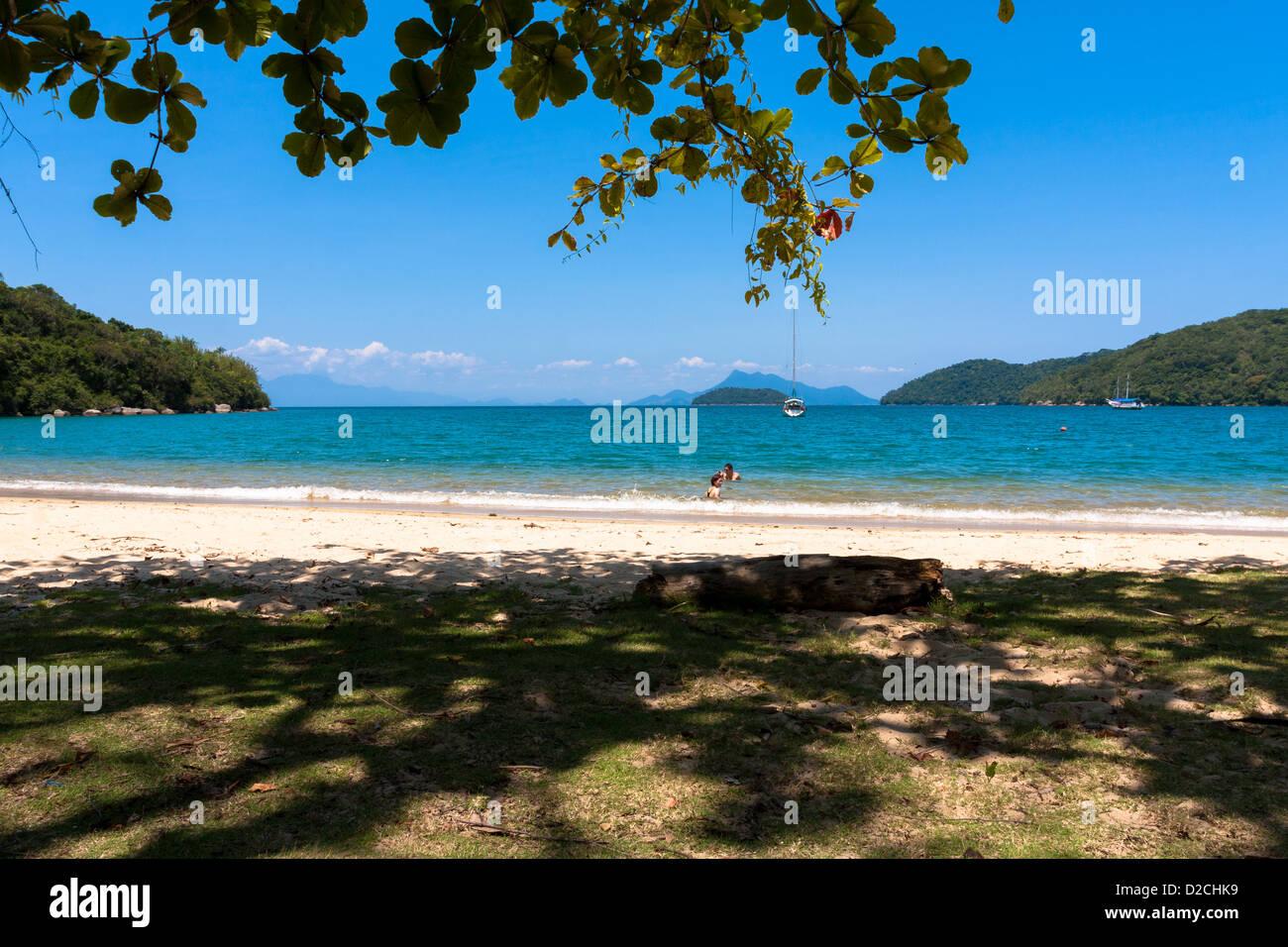 Lopes Mendes beach, Ilha Grande Angra dos Reis, Stato di Rio de Janeiro, Brasile Immagini Stock