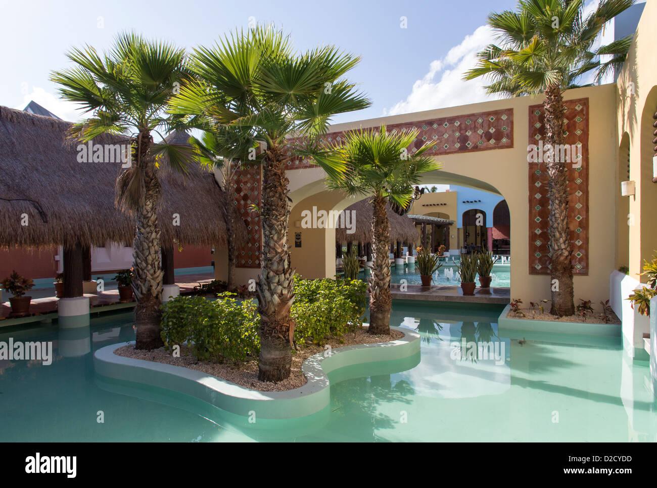 Resort di lusso decorazione esterna in riviera maya messico foto