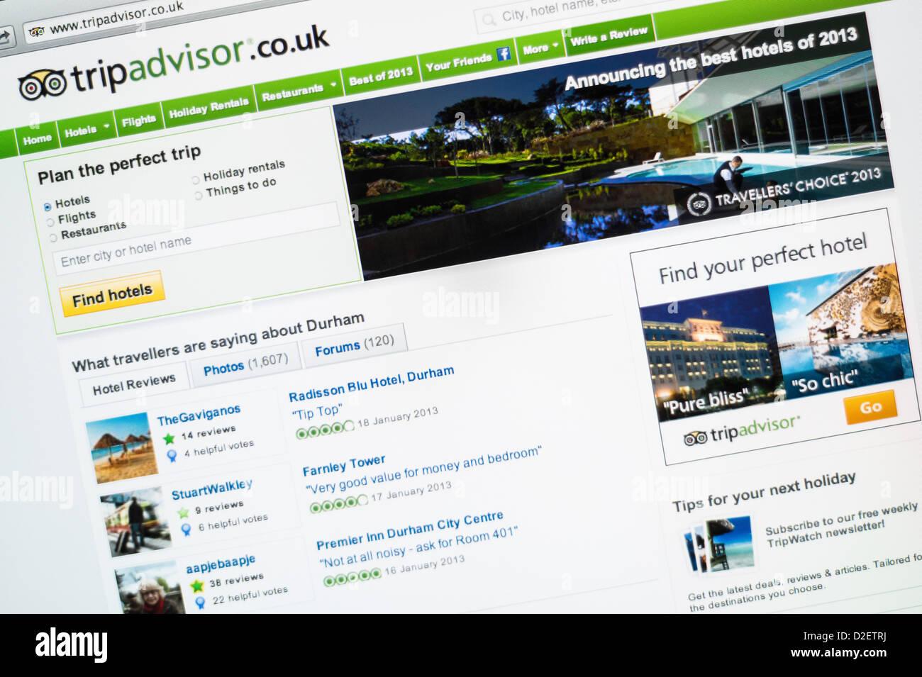 Trip Advisor logo e sito web. Immagini Stock