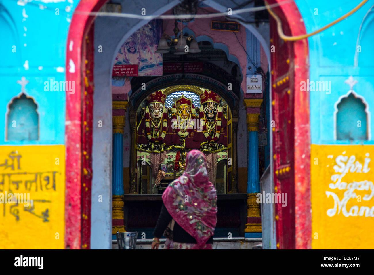 Tempio indù di Vecchia Delhi, India Foto Stock