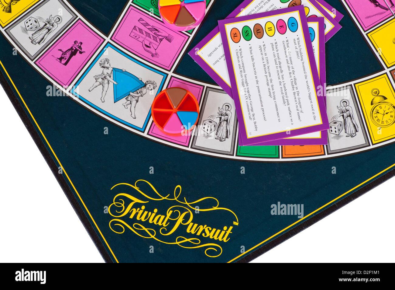 Trivial Pursuit Family gioco di bordo Foto Stock