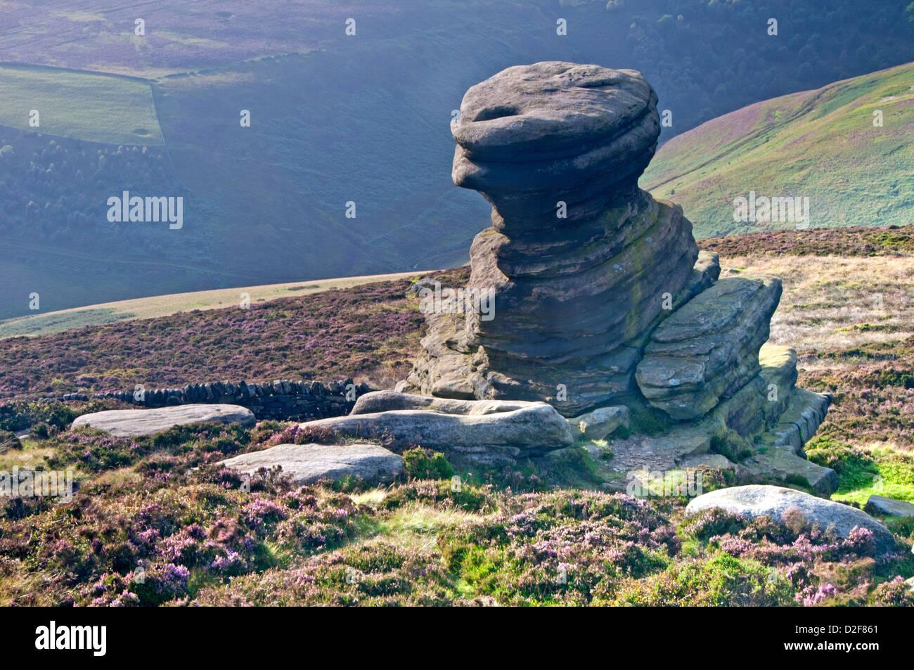 La cantina di sale, Derwent Edge, Parco Nazionale di Peak District, Derbyshire, England, Regno Unito Immagini Stock
