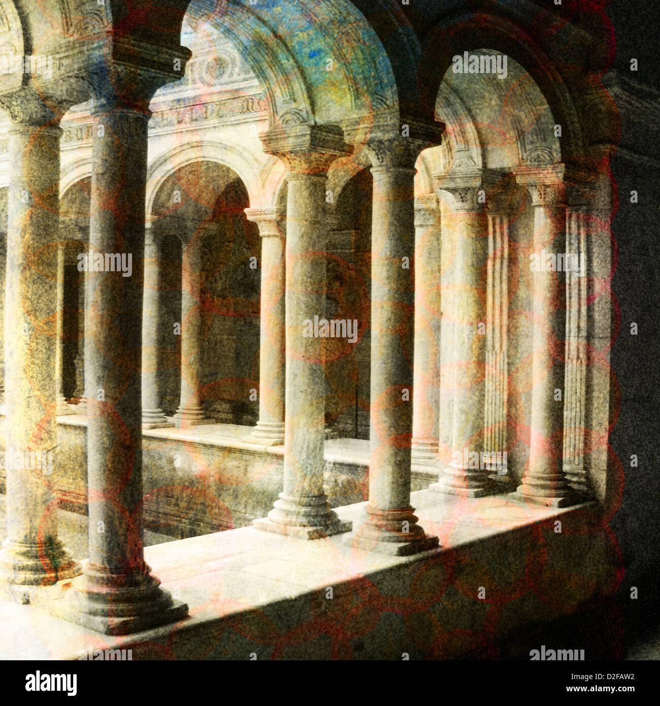 Architettura classica romana. In base foto illustrazione. Immagini Stock