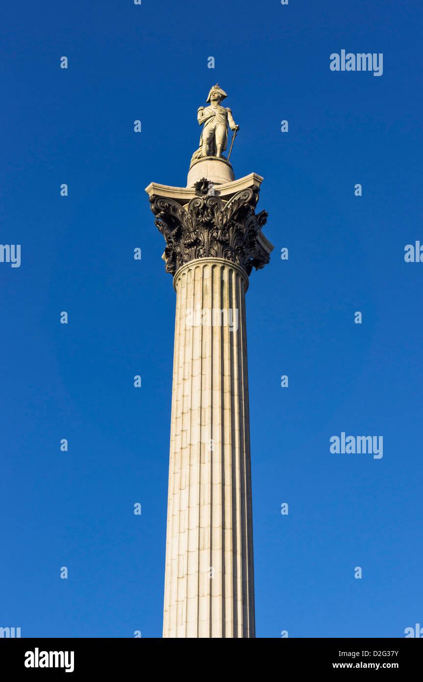 Nelson la colonna, London, Regno Unito Immagini Stock