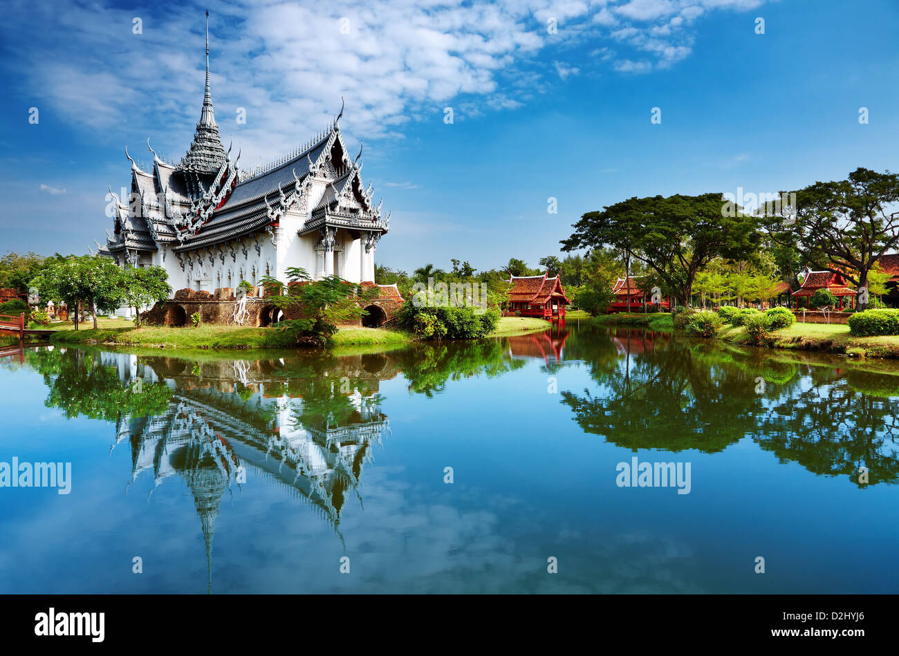 Sanphet Prasat Palace, antica città di Bangkok, Tailandia Immagini Stock