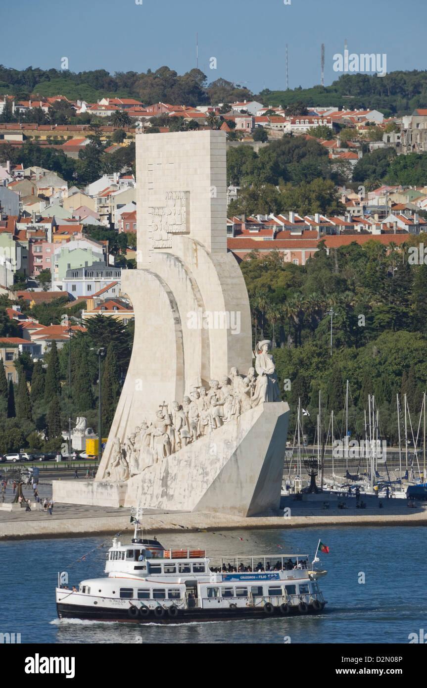 Padrau dos Descobrimentos (monumento alle scoperte), Belem, Lisbona, Portogallo, Europa Immagini Stock