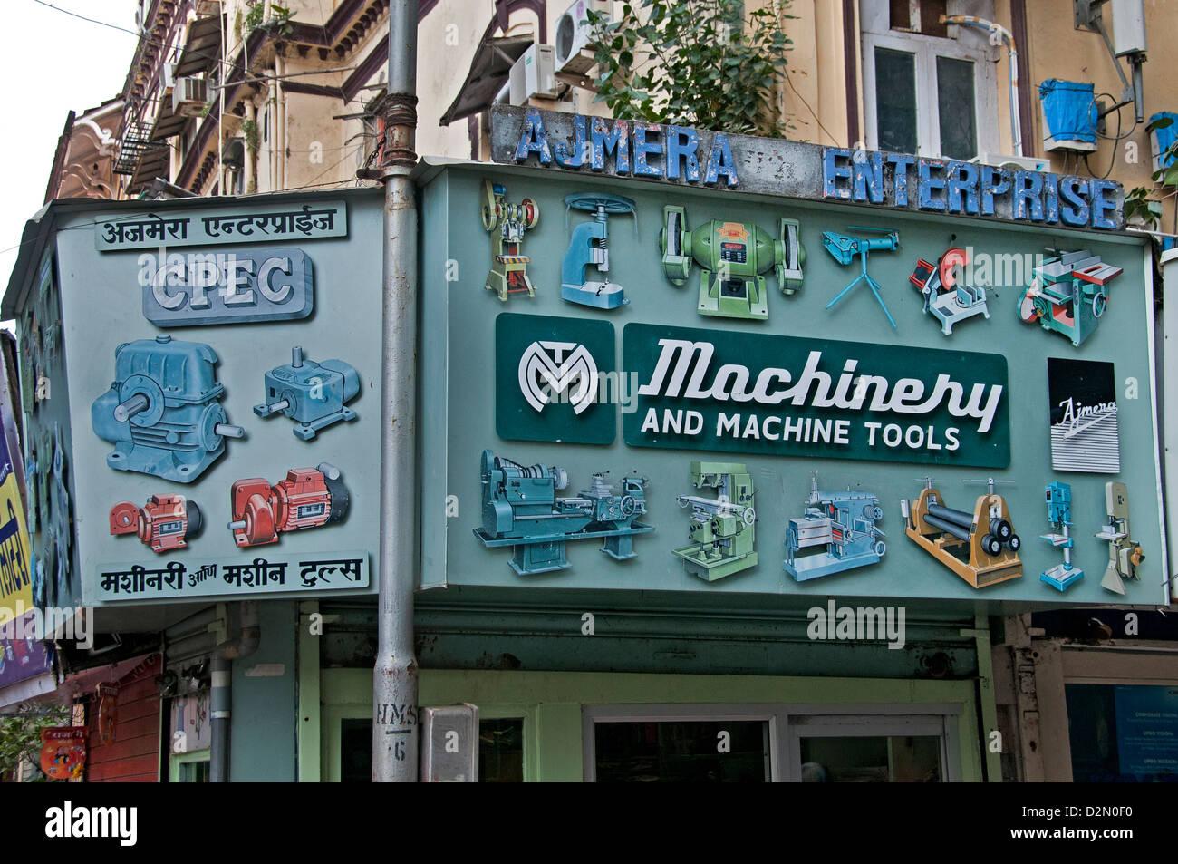Mumbai ( Bombay ) India macchinari tramite Affissioni Immagini Stock