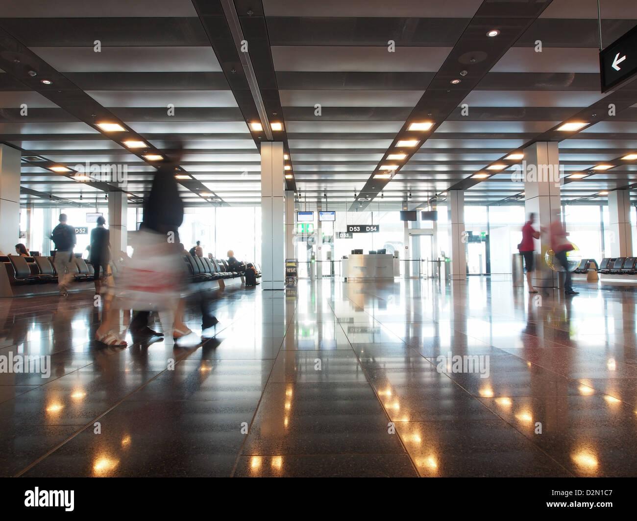 Area di attesa, l'aeroporto di Zurigo, Zurigo, Svizzera, Europa Immagini Stock