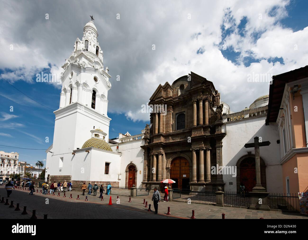 La Iglesia El Sarario, centro storico di Quito, Ecuador Immagini Stock