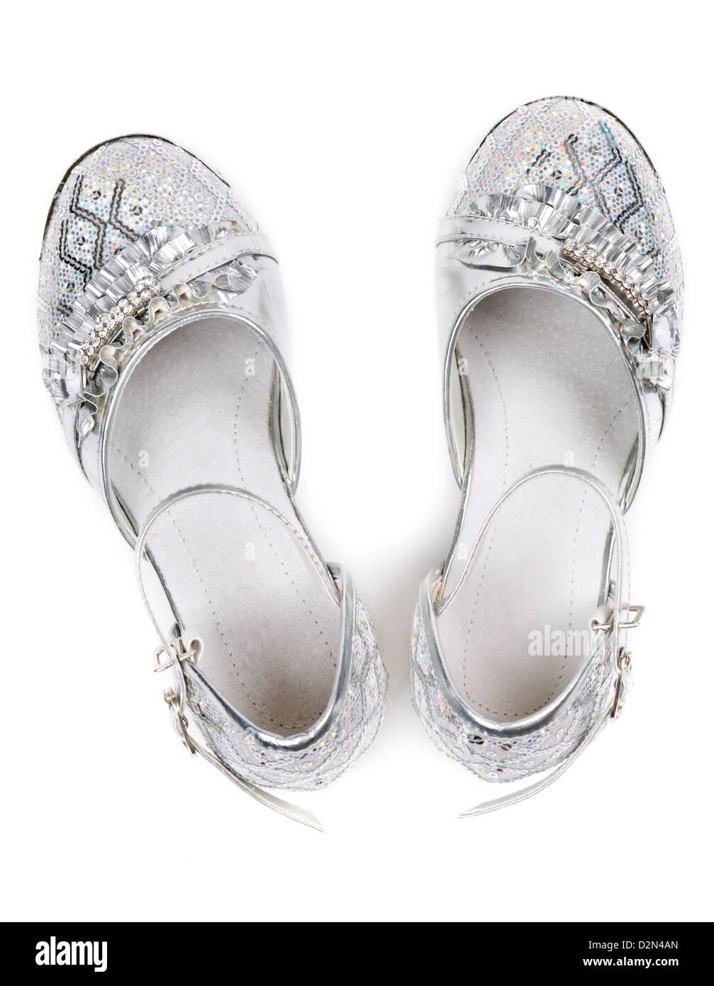 Bambini scarpe fantasia isolato su sfondo bianco. vista superiore Immagini  Stock a0de90775bc
