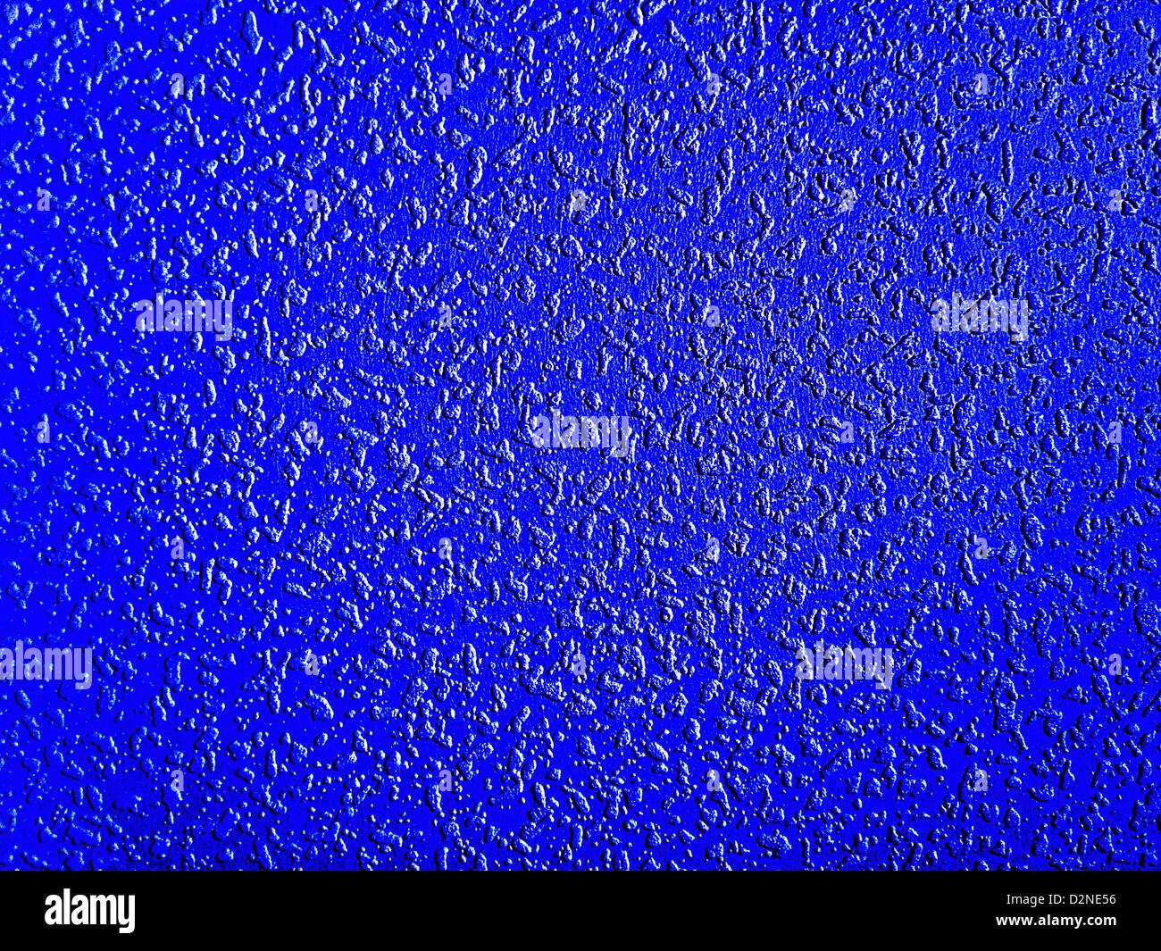 Primo piano di un blu superficie di sfondo Immagini Stock
