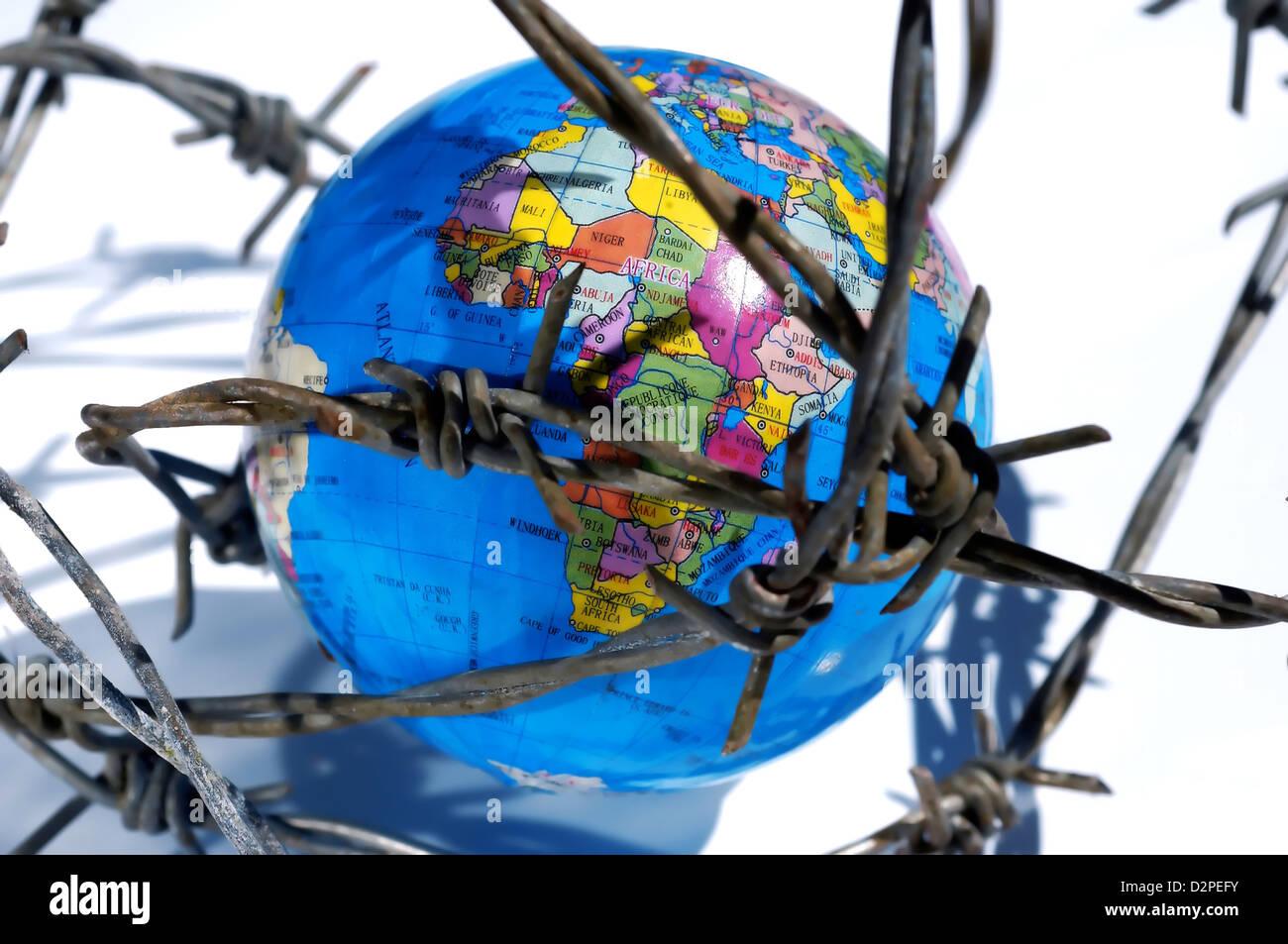 Terra del globo Immagini Stock