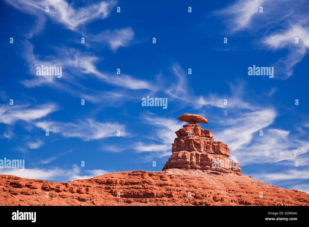 Mexican Hat Rock, Mexican Hat, Utah, Stati Uniti d'America, America del Nord Immagini Stock