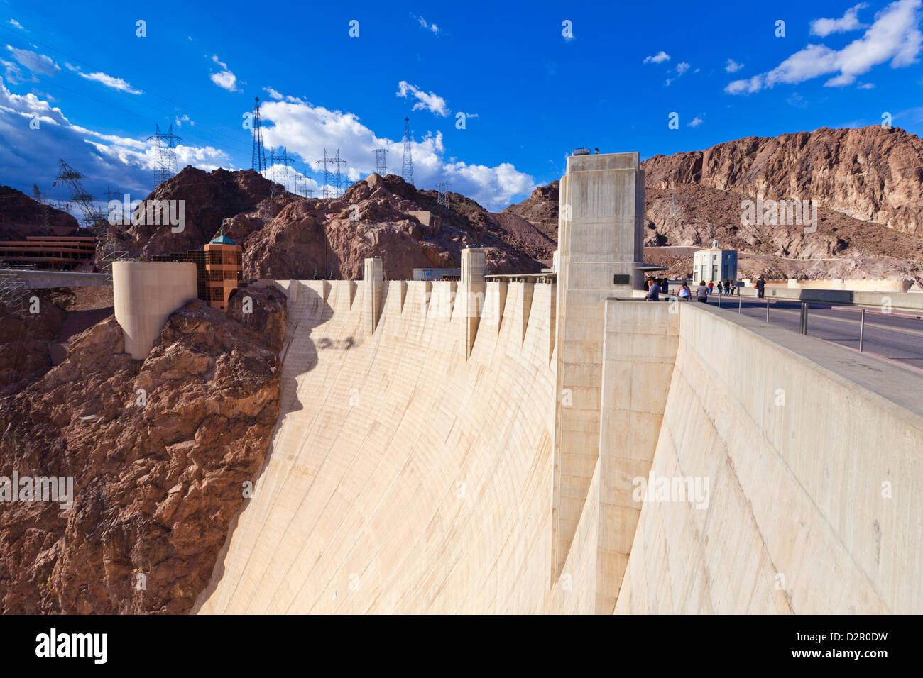 La diga di Hoover parete, Boulder City, Nevada, Stati Uniti d'America, America del Nord Immagini Stock