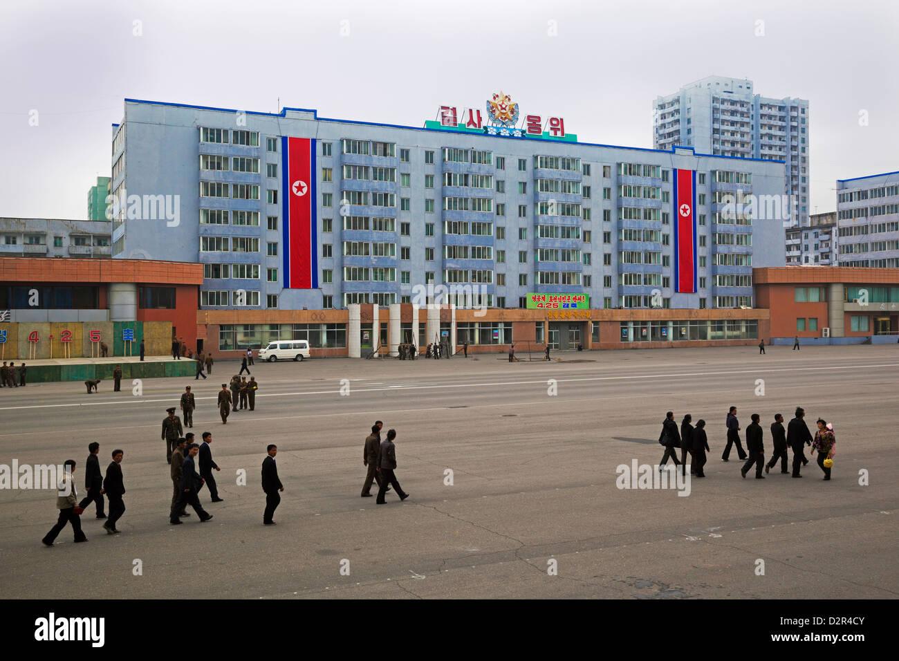 Tipica architettura delle città, Pyongyang, Repubblica Popolare Democratica di Corea (DPRK), la Corea del Nord, Immagini Stock