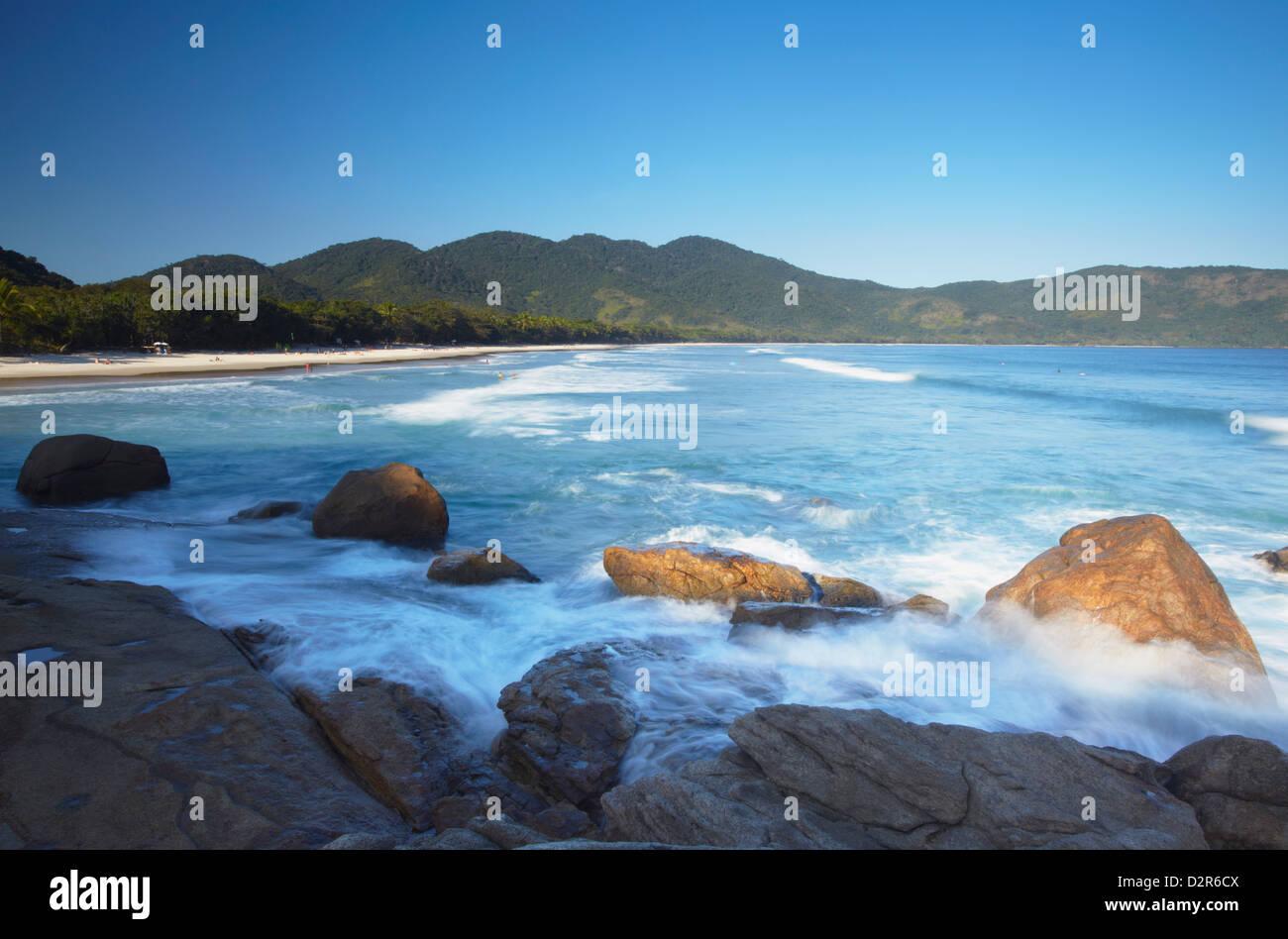 Lopes Mendes beach, Ilha Grande, Stato di Rio de Janeiro, Brasile, Sud America Immagini Stock