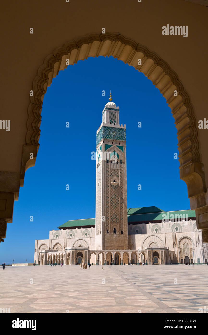 Moschea di Hassan II Casablanca in Marocco Immagini Stock