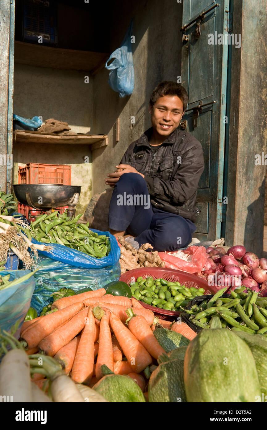 Pressione di stallo di mercato, Bhaktapur, Nepal, Asia Immagini Stock