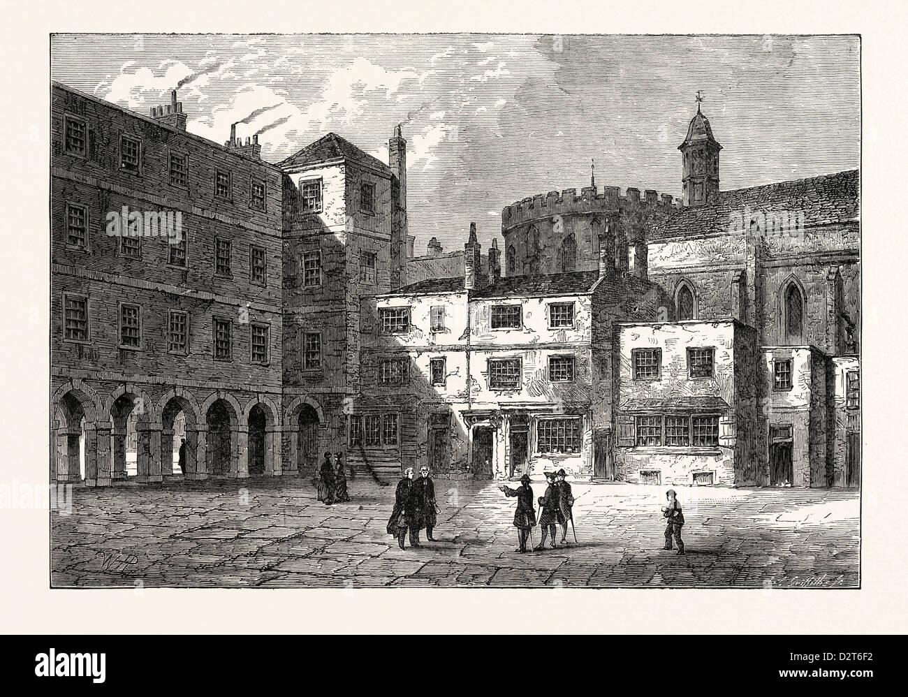 Parte del tempio interno 1800 Londra Immagini Stock