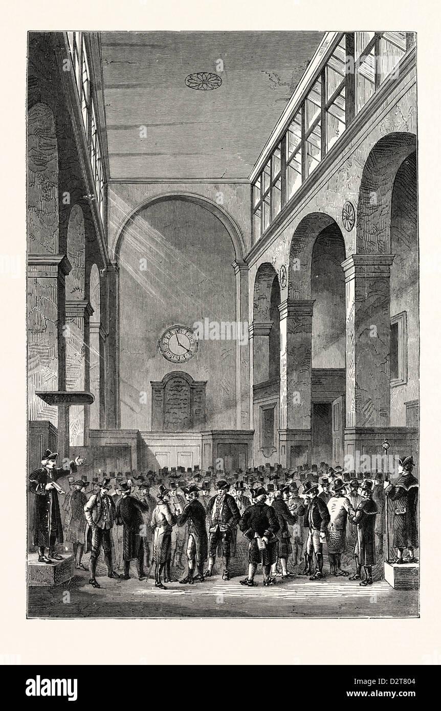 Sul cambiamento 1800 Londra Immagini Stock
