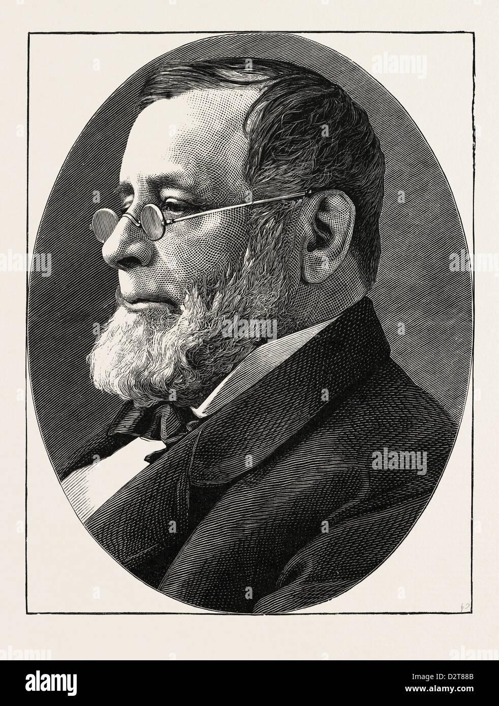 Il compianto REV. Il DR. EDWIN H. CHAPIN 1814 - 1880 Parroco della chiesa della divina paternità DI NEW YORK. Immagini Stock