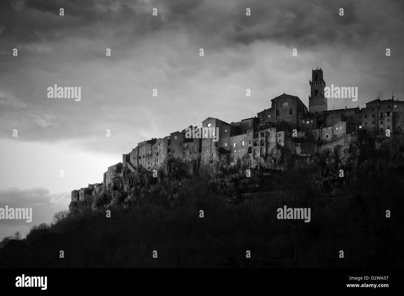 Pitigliano. Italia Immagini Stock