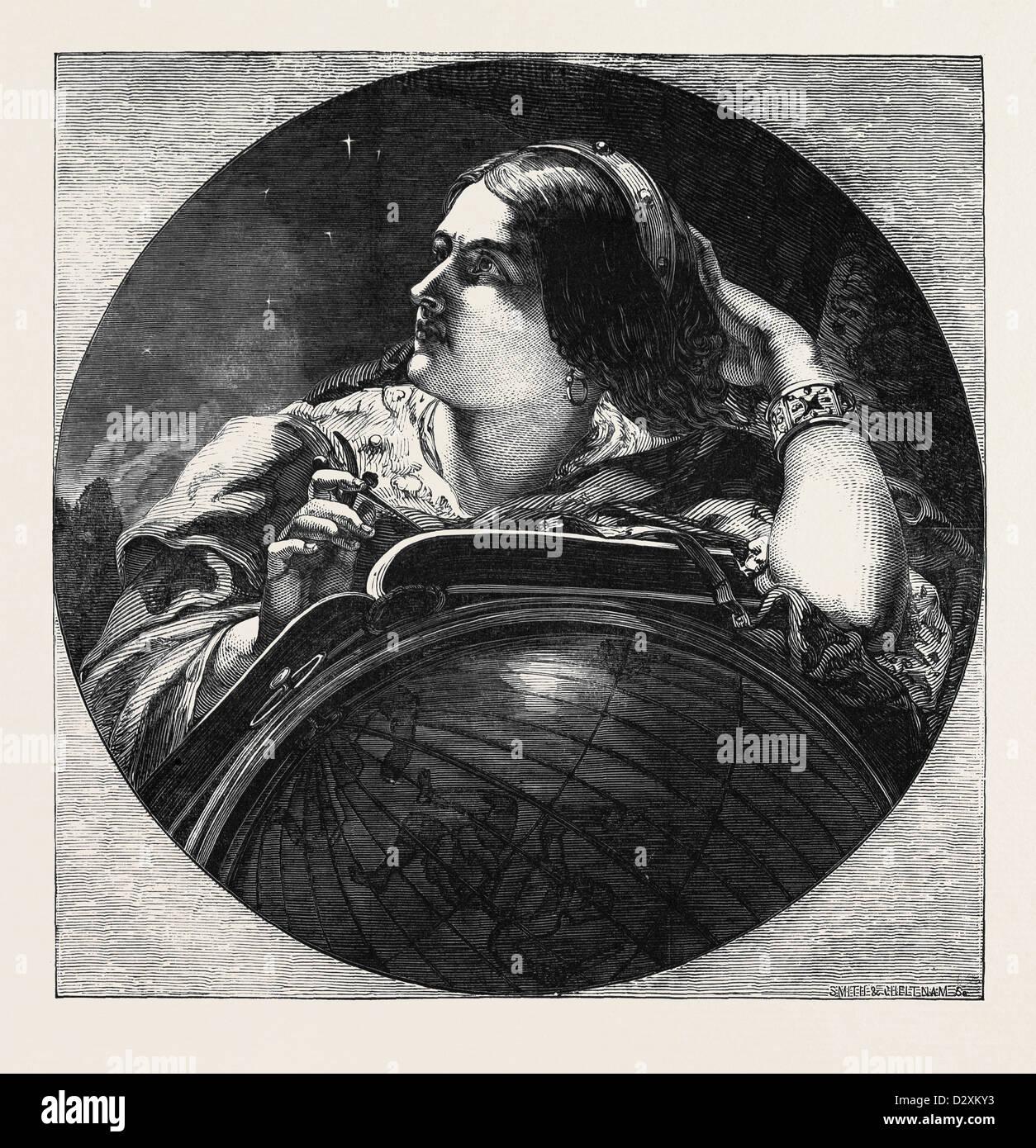 Astronomia dipinta da J. SANT Immagini Stock