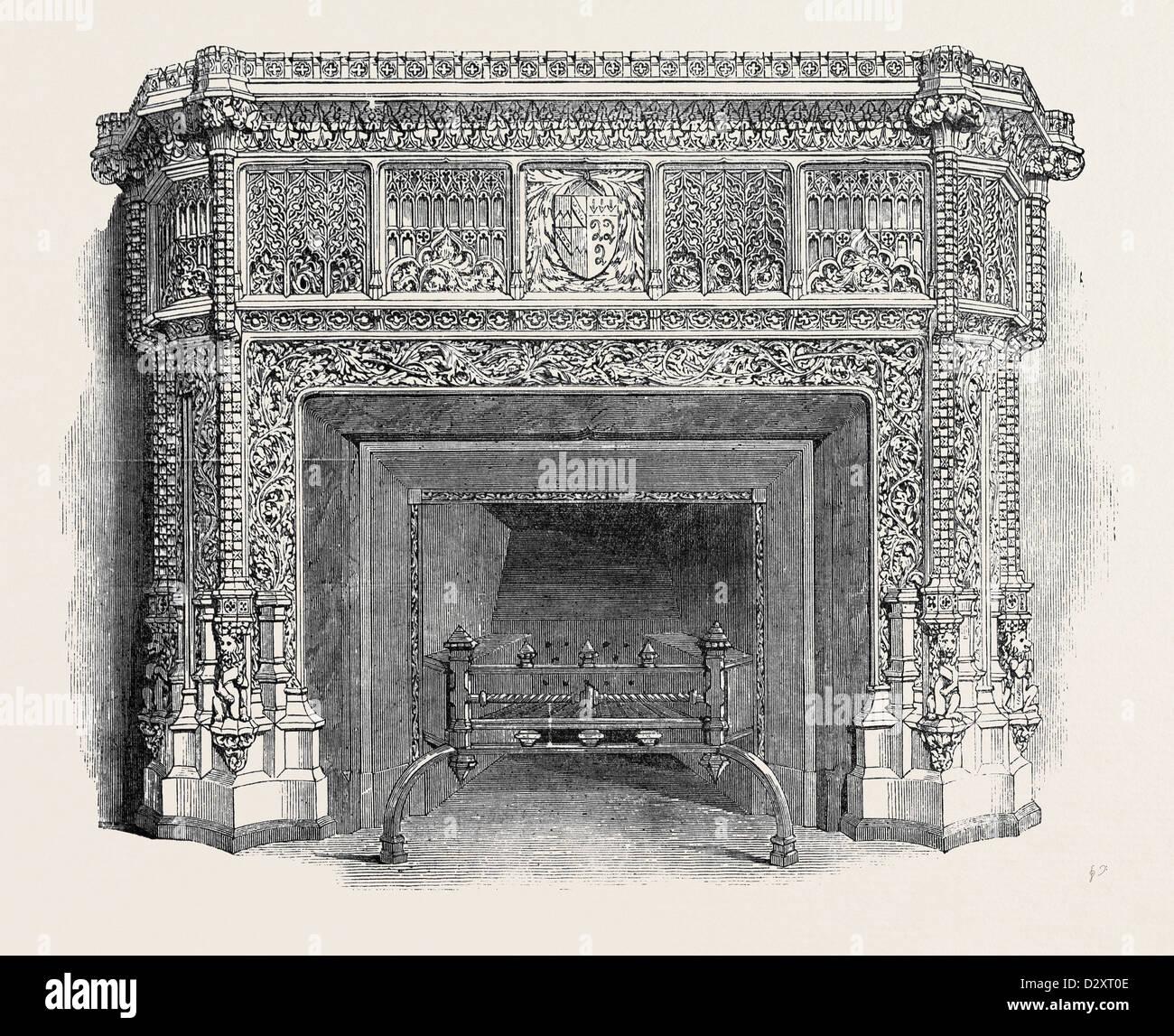 GOTHIC MANTEL pezzo, da WYNNE E LUMSDEN, la grande mostra Immagini Stock