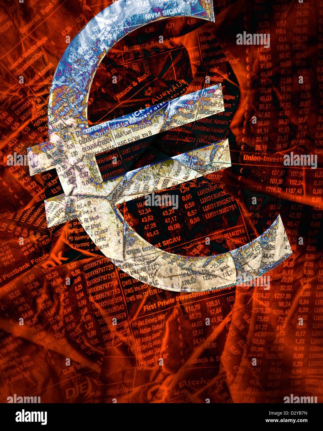 Concetto finanziari: l'Euro Immagini Stock