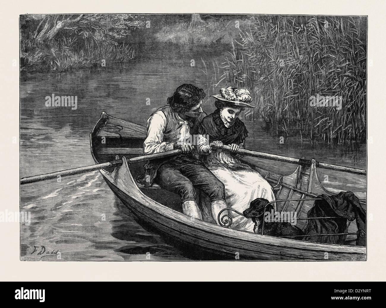 Divisione del lavoro 1880 Immagini Stock
