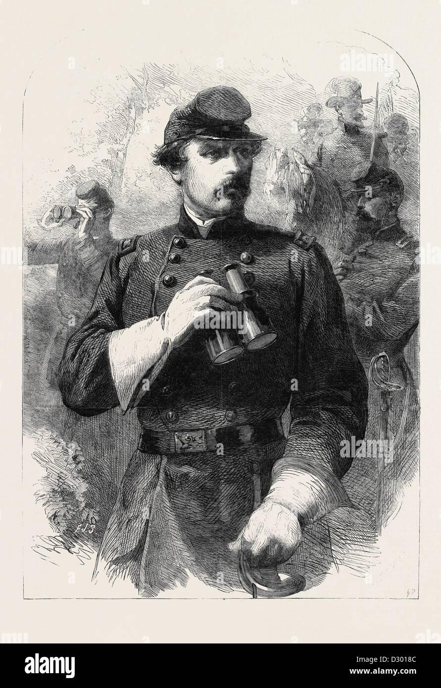 GENERAL M'CLELLAN comandante in capo delle Forze armate federali Immagini Stock