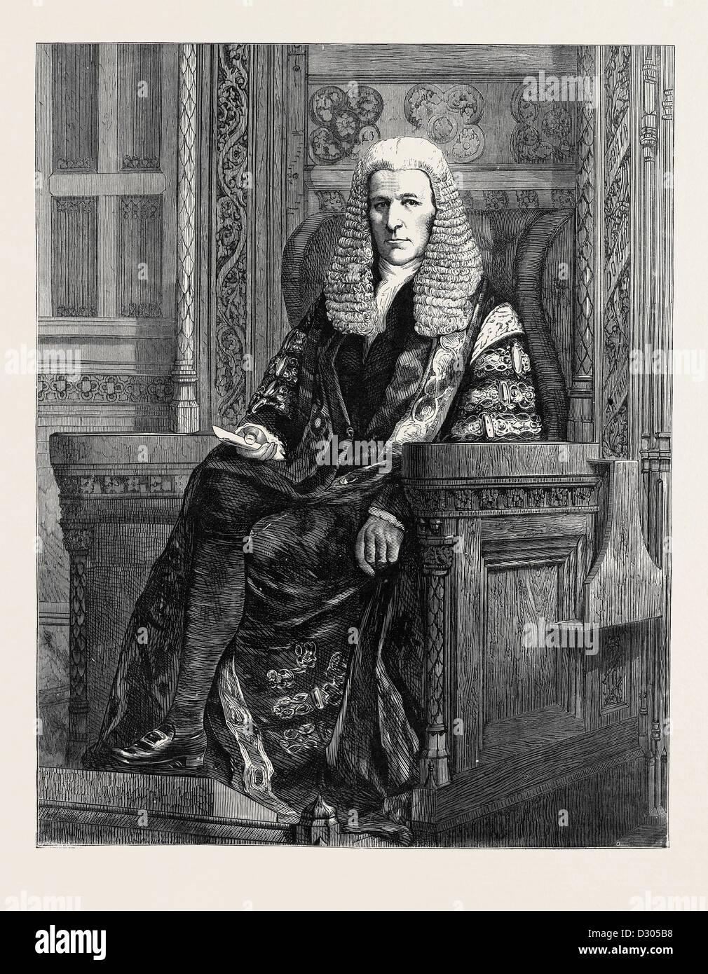 L'onorevole lo speaker della HOUSE OF COMMONS, 1870 Immagini Stock