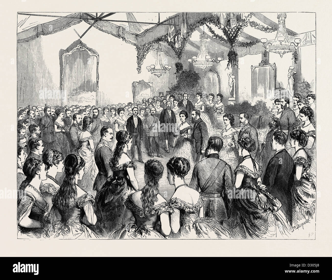L' Onorevole Compagnia di Artiglieria della palla, 1870 Immagini Stock