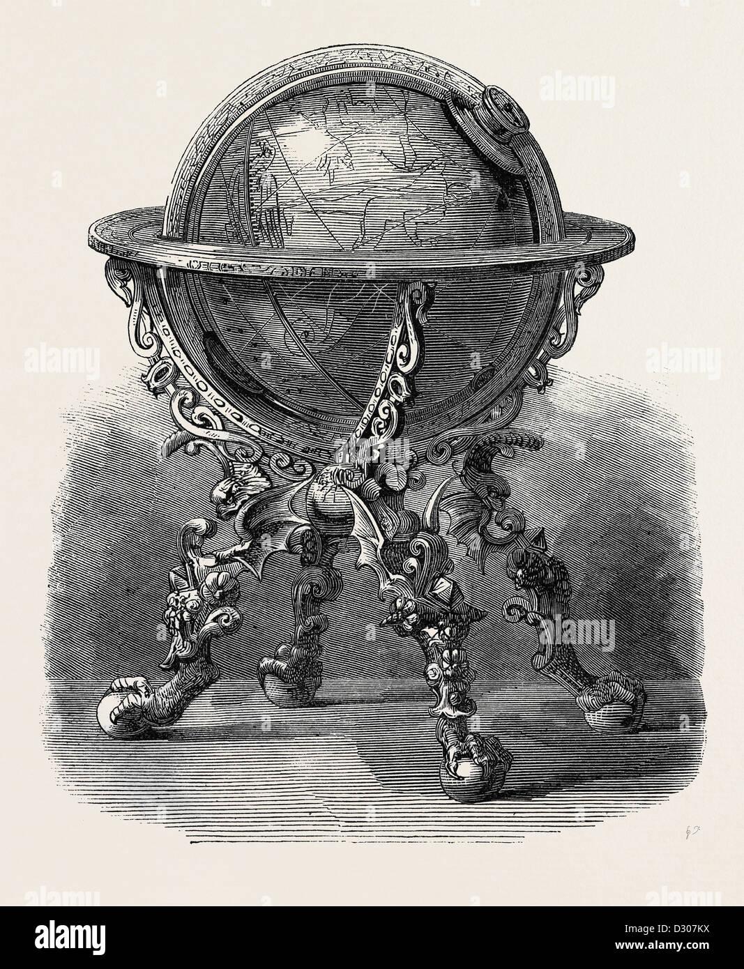 Orologio astronomico REALIZZATO PER L'imperatore Rodolfo II di Germania Immagini Stock