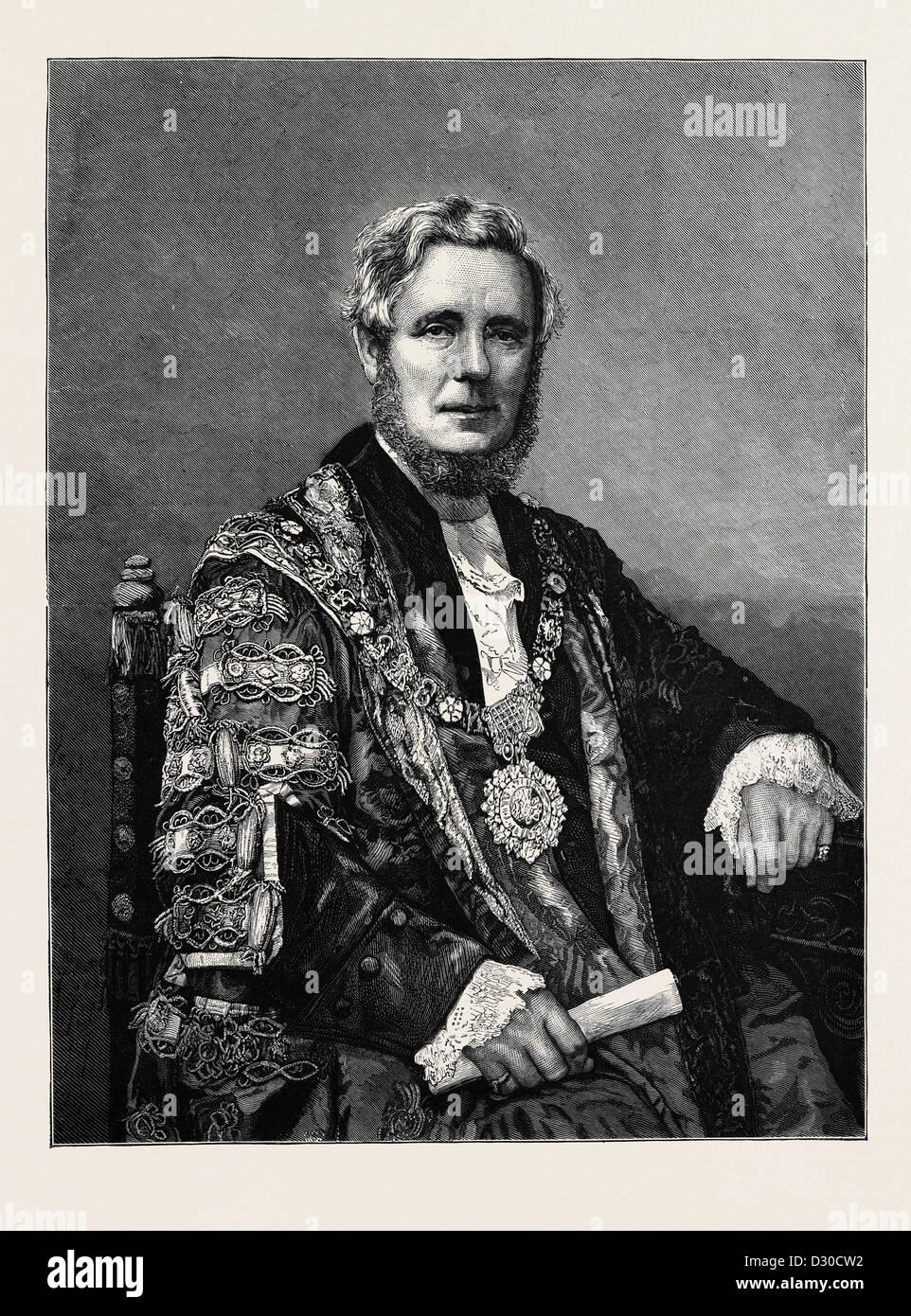 L'onorevole SIR SYDNEY HEDLEY WATERLOW, KNT., sindaco di Londra Immagini Stock