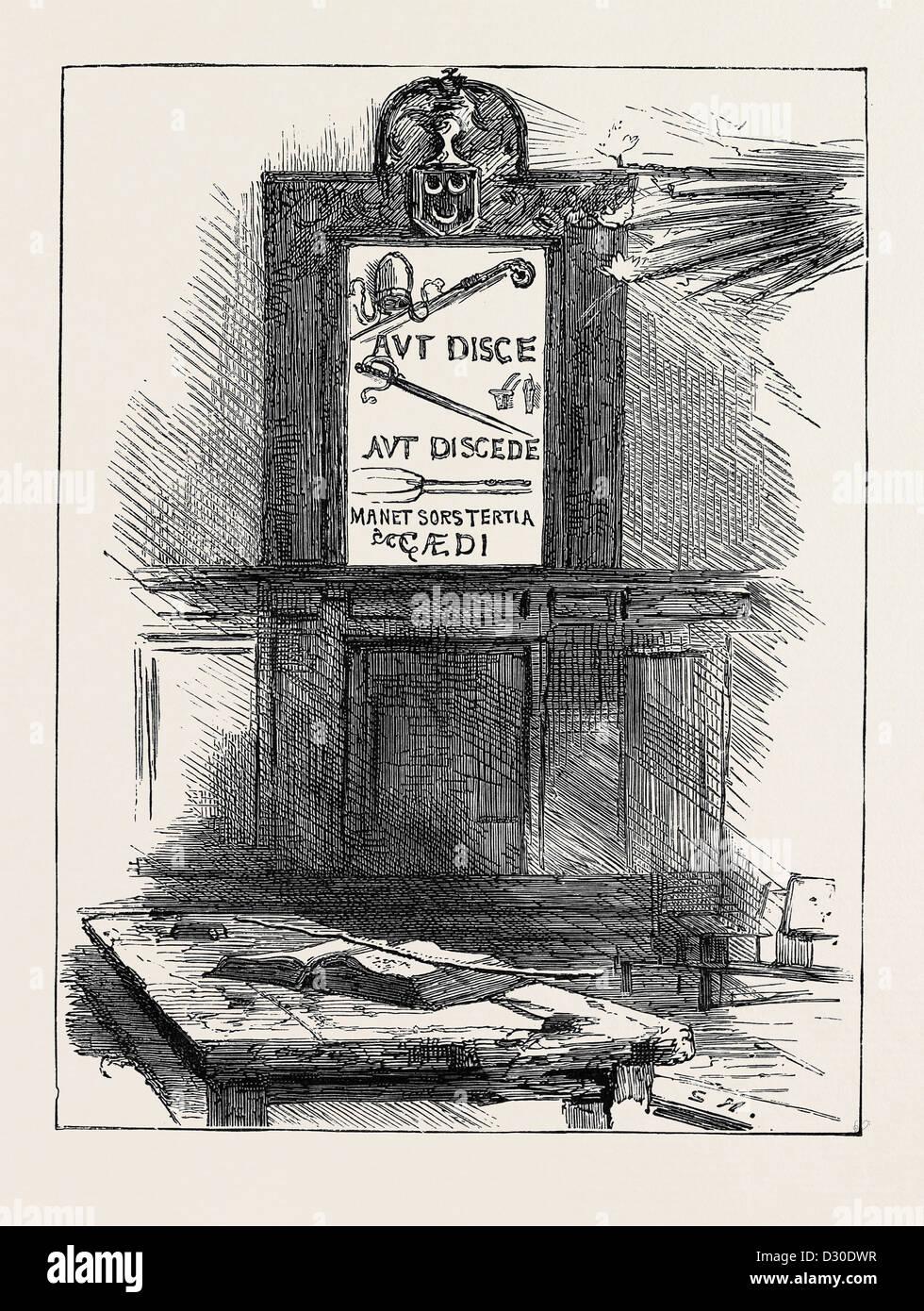 A Winchester College: 'ARGUMENTUM AD BACULAM' Immagini Stock
