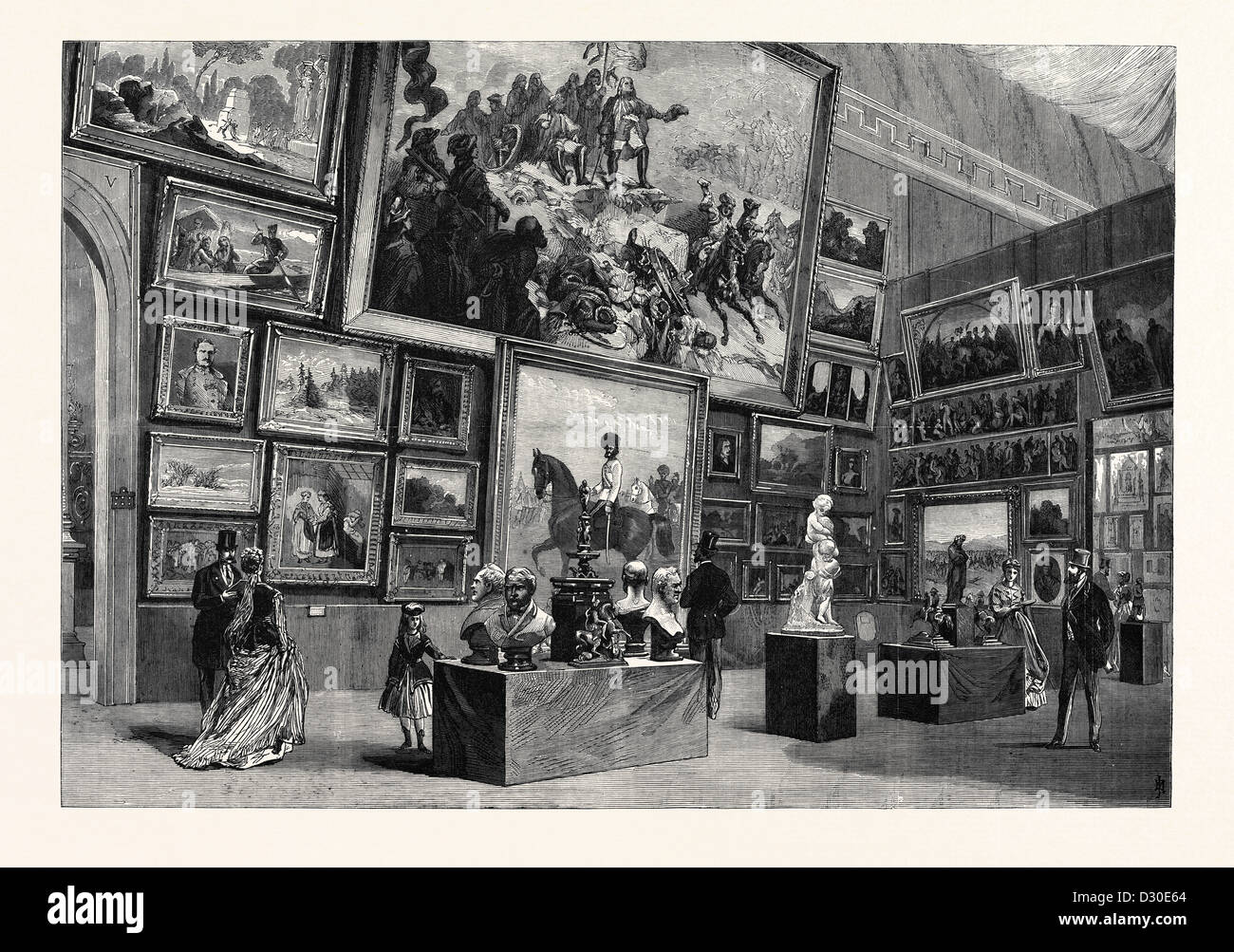 Esposizione di Belle Arti nel tratto austriaco dell'ESPOSIZIONE INTERNAZIONALE DI PARIGI FRANCIA 1867 Immagini Stock