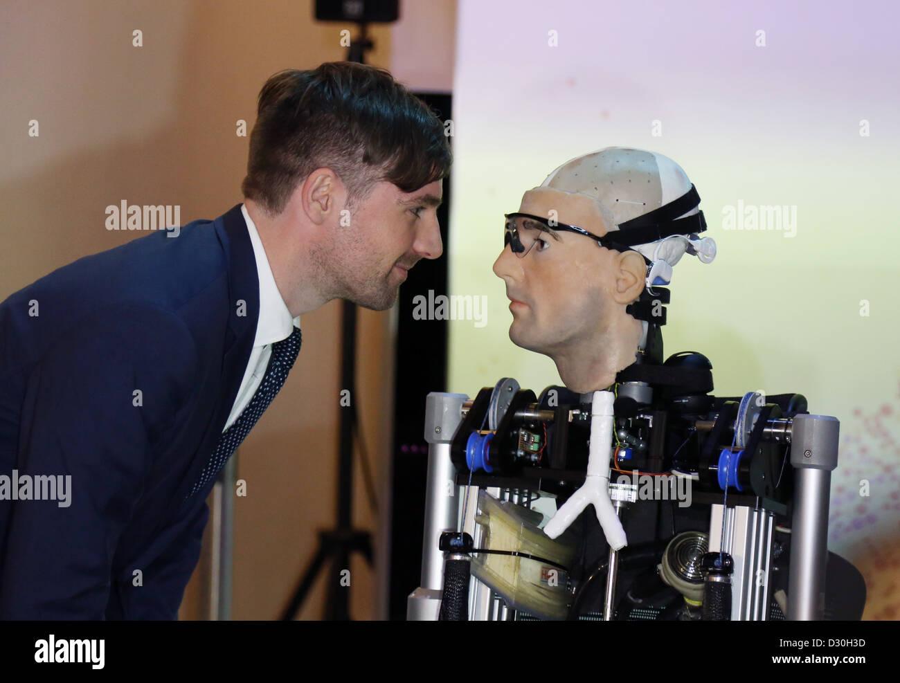 Rex Robot uomo bionico al Museo della Scienza di Bertolt Meyer Immagini Stock