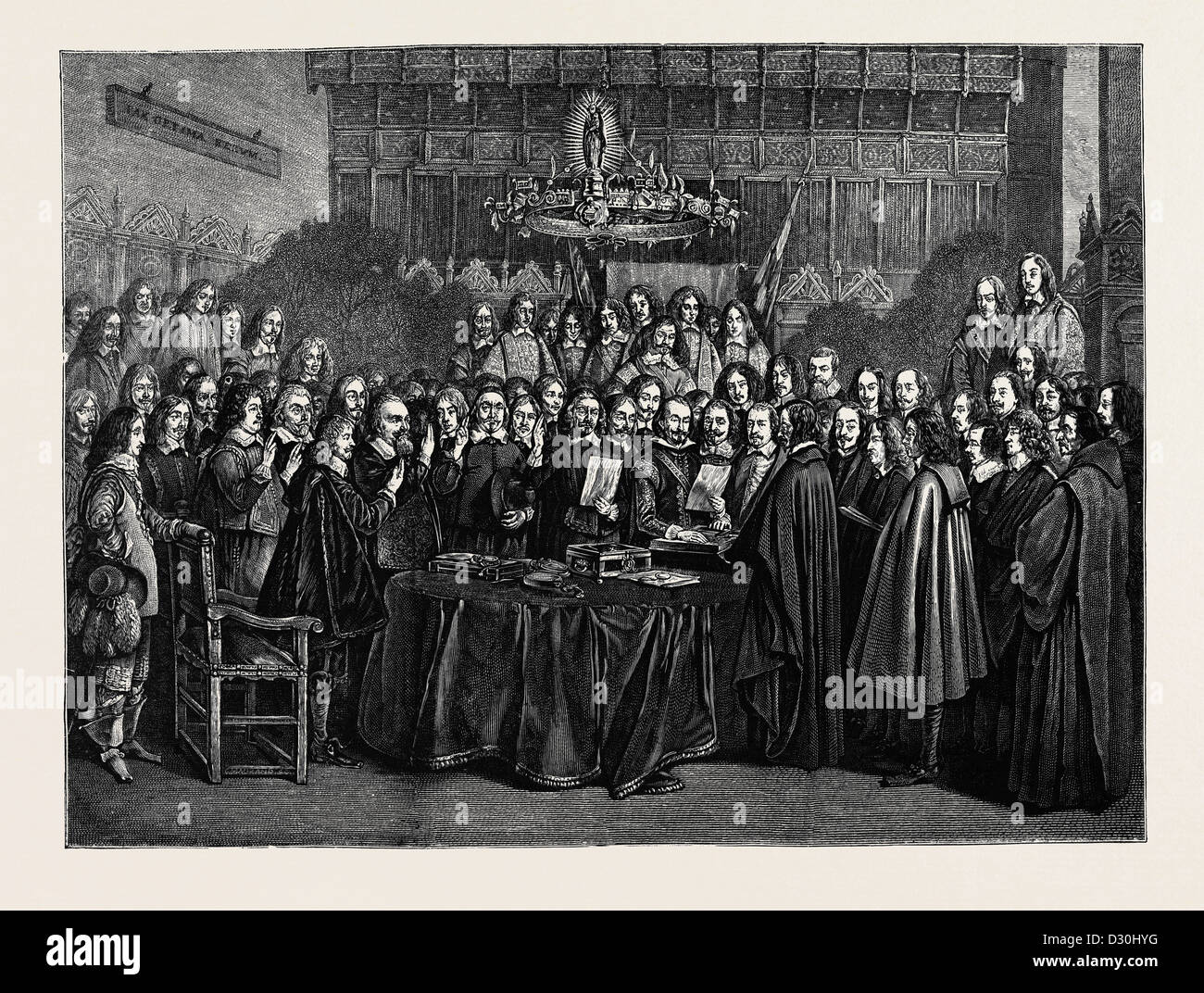 Trattato di Vestfalia da TERBURG Immagini Stock