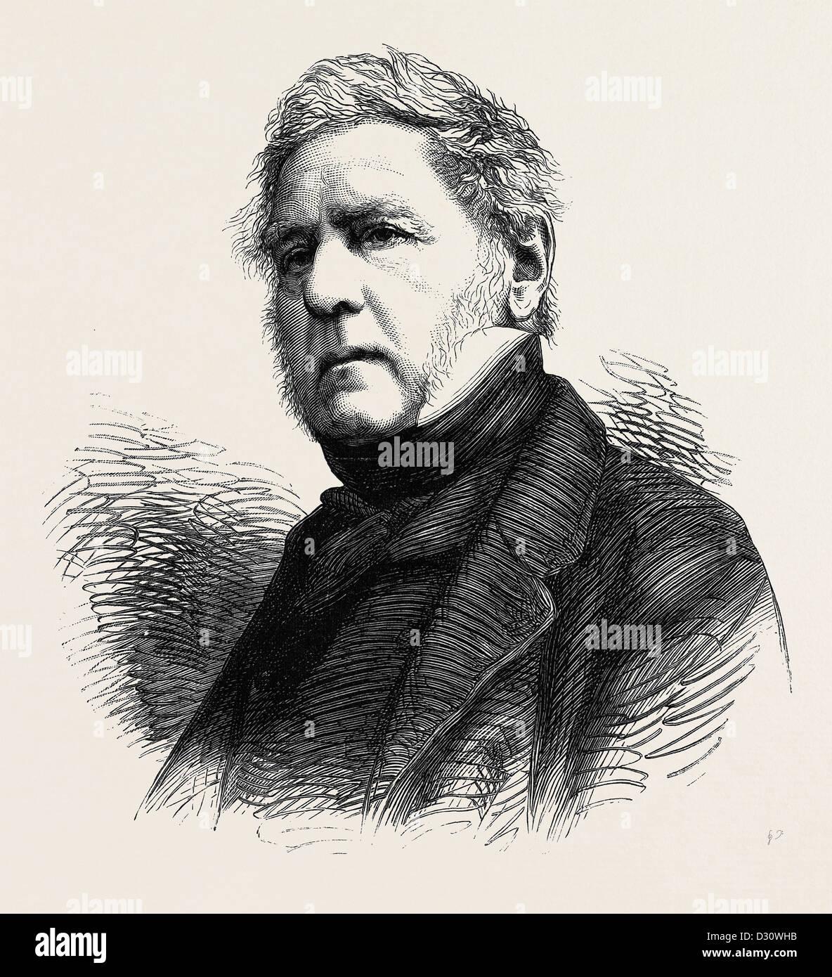 Il dott. H.J. ROUS, ammiraglio R.N., morì il 19 giugno 1877, di età compresa tra i 82 Immagini Stock