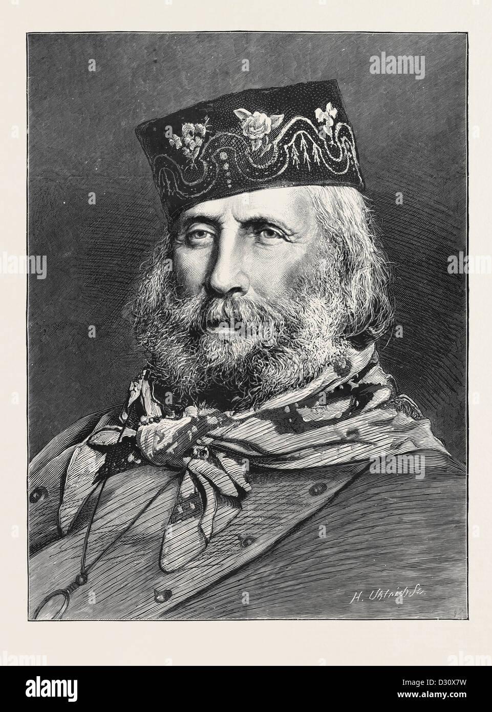 GIUSEPPE GARIBALDI, nato a Nizza il 4 luglio 1807, morì a Caprera, Giugno  2, 1882 Foto stock - Alamy