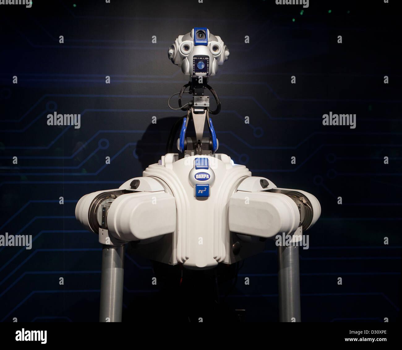 Robbie il DARPA braccio robot programma - USA Immagini Stock