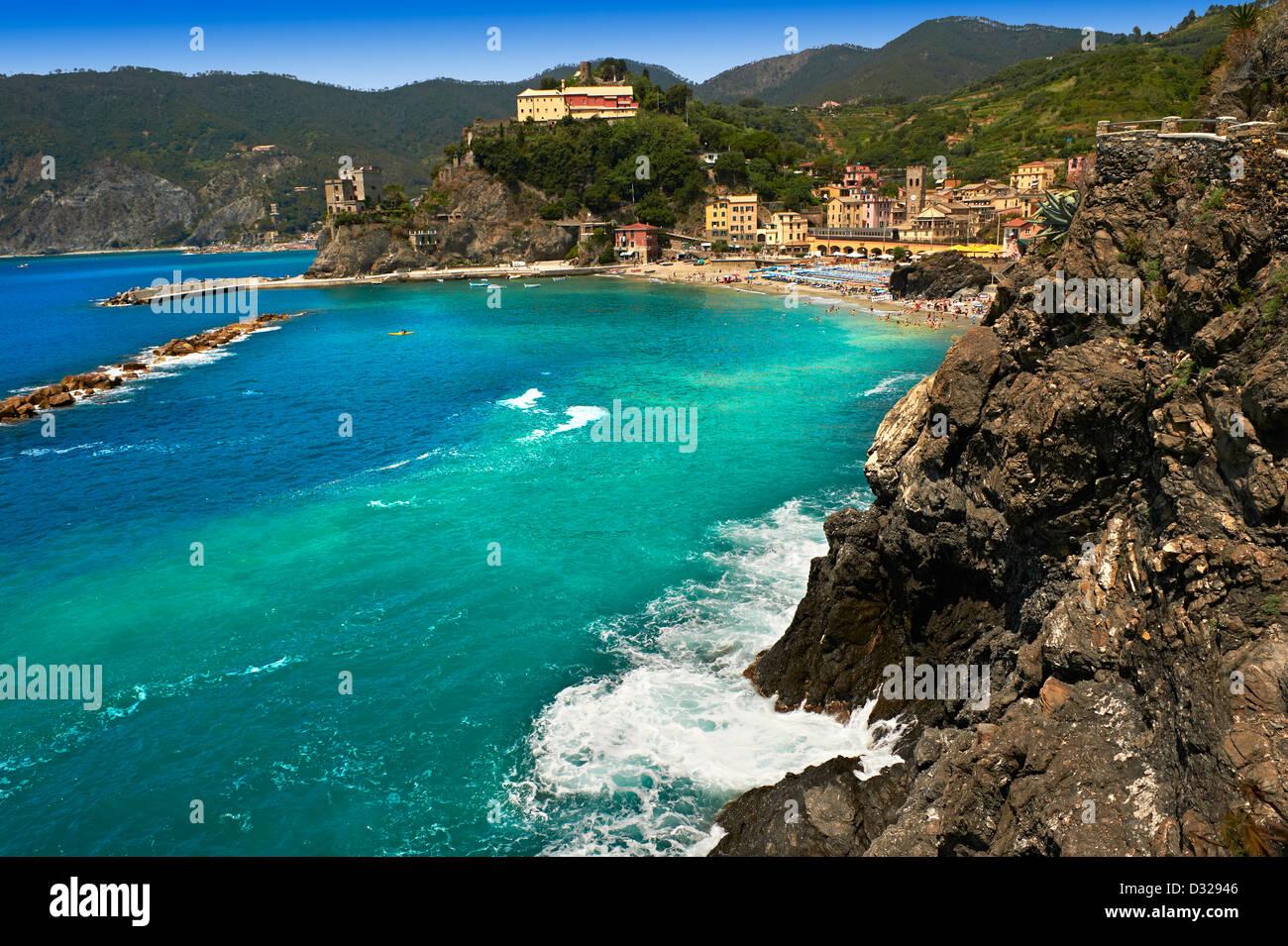 Foto di Monterosso al Mare, Parco Nazionale delle Cinque Terre, Liguria, Italia Immagini Stock