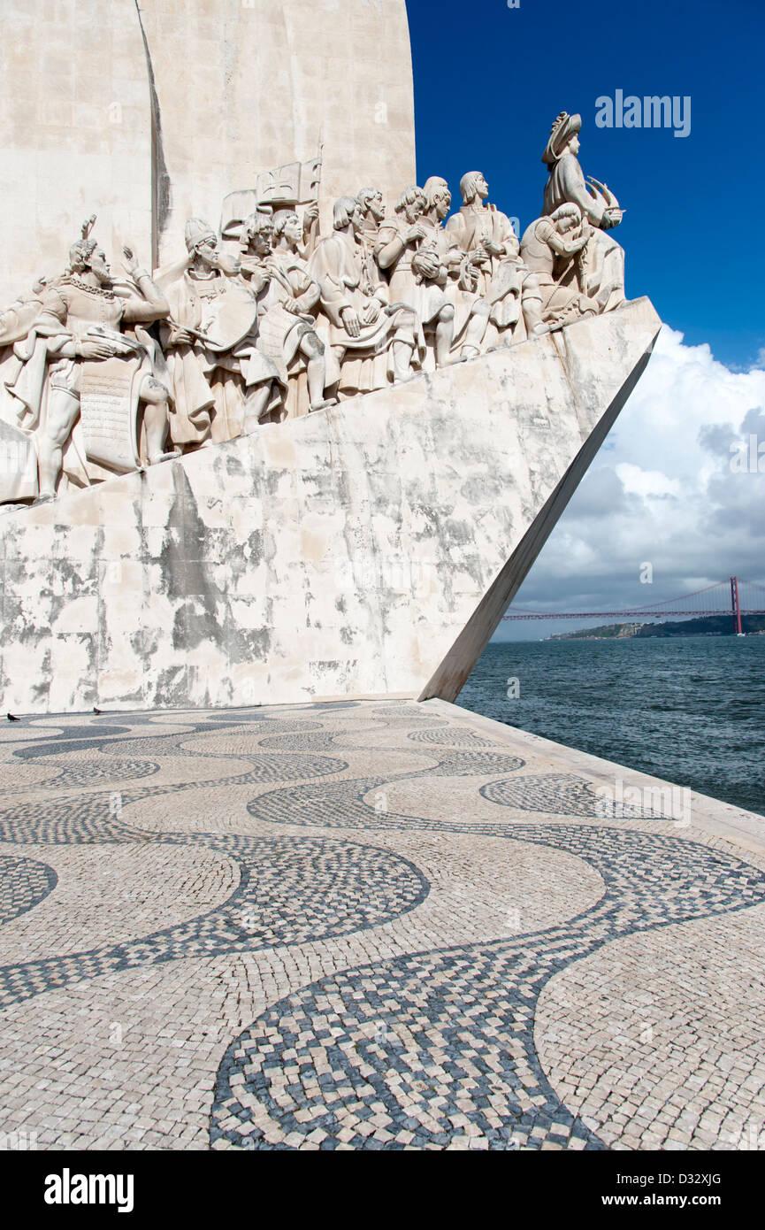 Il Monumento delle Scoperte, Lisbona, Portogallo Immagini Stock