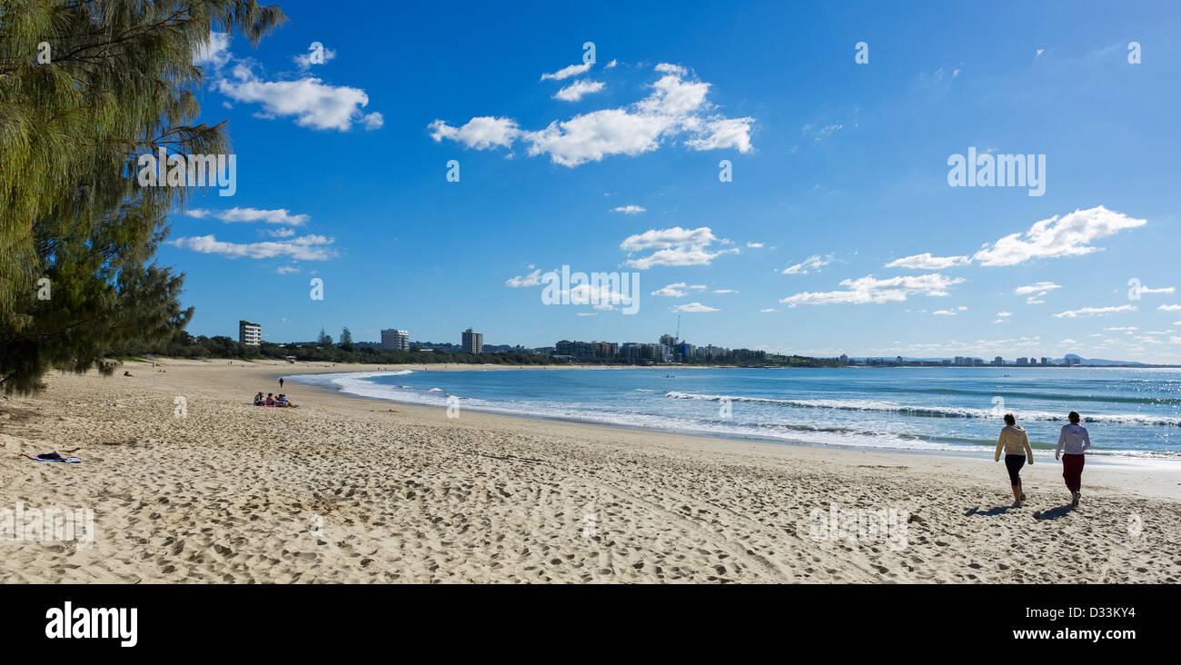 Queensland, Australia - Mooloolaba Beach sulla Costa del Sole Immagini Stock