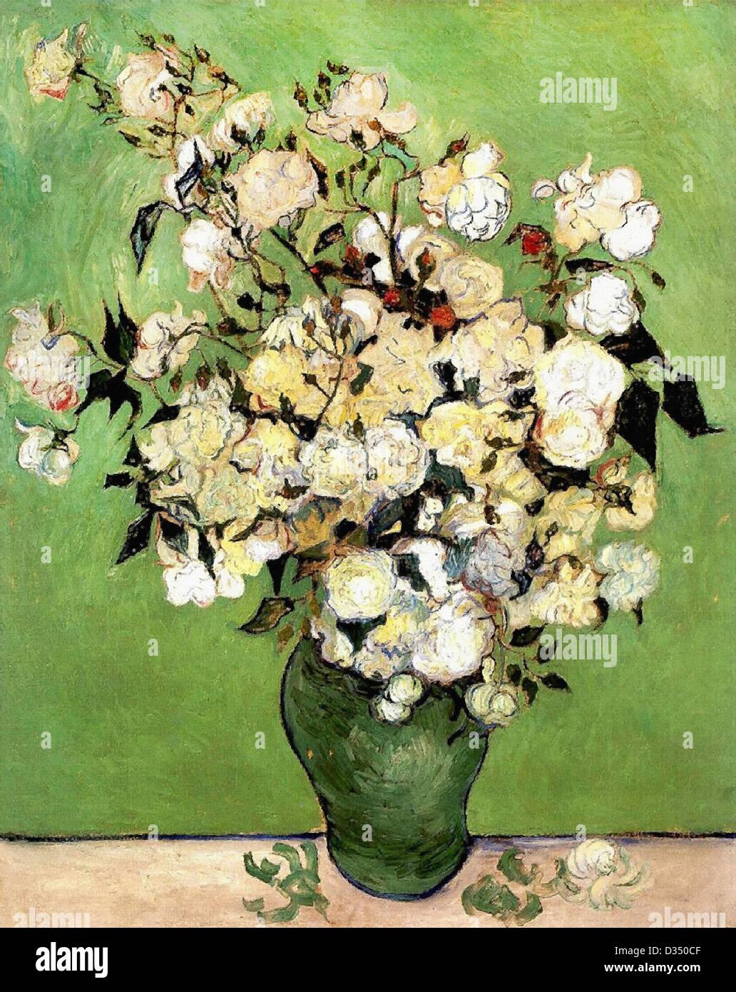 Vincent van Gogh, un vaso di rose. 1889. Post-Impressionism. Olio su tela. Annenberg collezione privata, Palm Springs. Immagini Stock