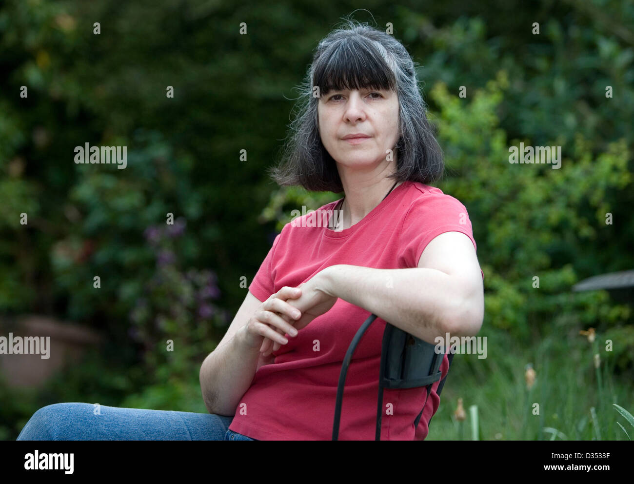 09.05.08. Karen Carmichael-Timson nella sua casa di Whitemill vicino a Carmarthen, West Wales. Immagini Stock